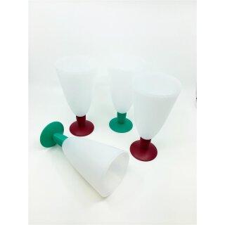 Tupperware Set Eisbecher Junge Welle weiß  4 x 500 ml Cocktail Eis Getränke Becher NEU