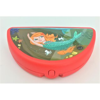 Tupperware Meerjungfrau Lunch Box rot Mädchen Dose Behälter NEU