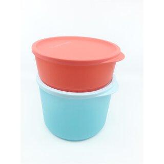 Tupperware Set Frische Runde Geburtstagskracher 2 - teilig Schüssel Behälter mit Deckel 2,1 l + 950 ml NEU