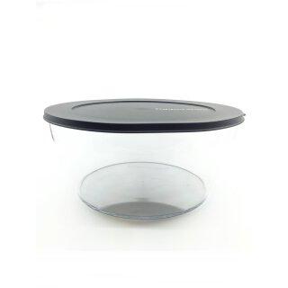 Tupperware Clear Collection Schüssel 6 L Obst Salat Dip Glasoptik / schwarz NEU