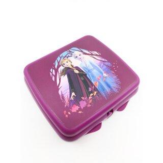Tupperware Frozen Anna & Elsa Lunchbox Mädchen hübsches Brotdose Eiskönigin  Motiv pink / brombeer  NEU