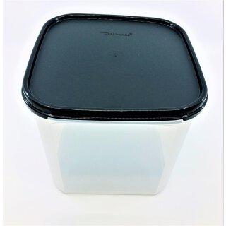 Tupperware Eidgenosse Quadro schwarzer Deckel 4  l quadratisch Vorrat Vorratsbehälter NEU
