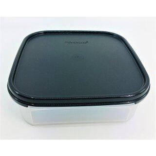 Tupperware Eidgenosse Quadro schwarzer Deckel 1,2  l quadratisch Vorrat Vorratsbehälter NEU