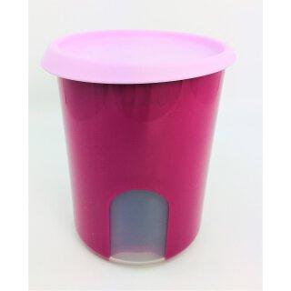 Tupperware kleine Durchblick pink/ rose 1,25 l Vorratsdose Bingo Dose Kaffee, Zucker, Kekse NEU