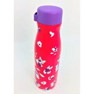 Tupperware Thermobecher Blumen pink Flasche 410 ml NEU