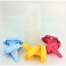 Tupperware Lollitups Eis am Stiel Eisbereiter 6 Stück gelb / hellblau / pink NEU