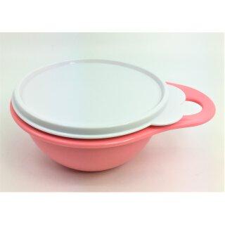 Tupperware Maximilian rosa / koralle Deckel weiß  600 ml  Schüssel mit Deckel NEU