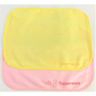 Tupperware Set Brillenputztücher 2 - teilig rose´+ gelb Durchblick super Putzkraft ohne Schlieren NEU